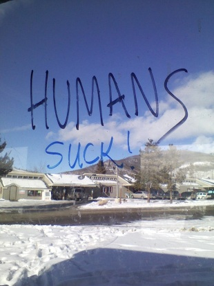 8. It is worth riding the bus just to see what people write on the windows. Location: Dillon, Colorado.