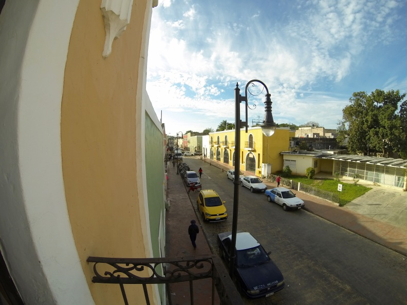 Morning in Valladolid, from the balcony.