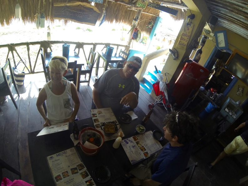 A break from snorkeling for lunch at Merkadito, our favorite grub spot in Puerto Morelos.