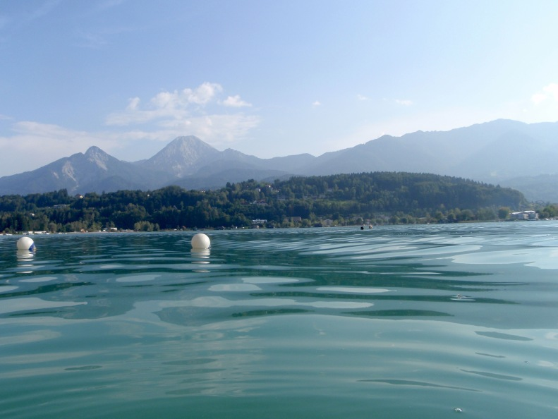 And the a lake to jump in which for me is refreshing; for Cristina, the self-proclaimed fussy Italian, not so much :)