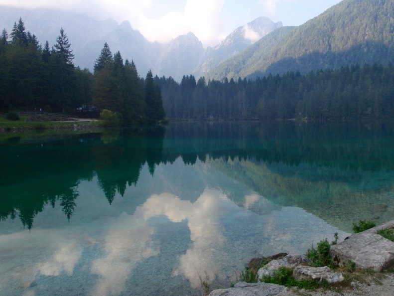 The first of the Laghi di Fusine...