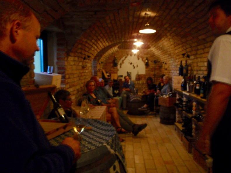 And what better way to beat the rain than a lengthy wine tasting?