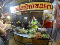 A late night pad thai at the night market...