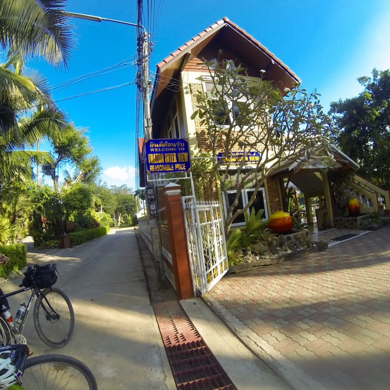 Our guesthouse on the Nam Kok in Thaton.