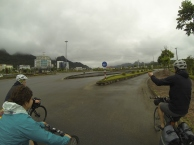 Riding back to the bus in Lao Cai.