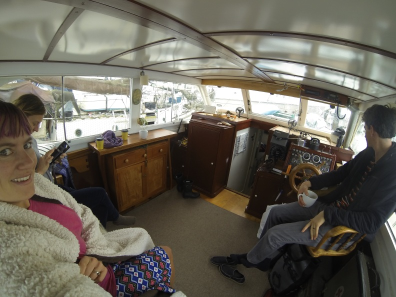 Enjoying a leisurely morning aboard the Iron Feather.