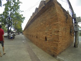 The ancient city wall near our guesthouse.