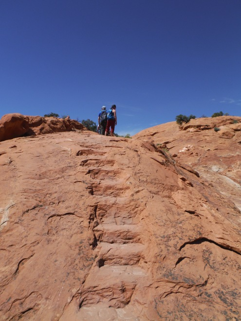 Heading towards the second viewpoint at Upheaval Dome.