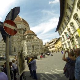 One of those great road signs outside the Duomo...