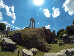 The remains of the Temple of Castor and Pollux.