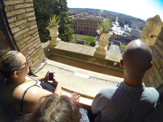 From one of the many Vatican windows, Rome, on and on...