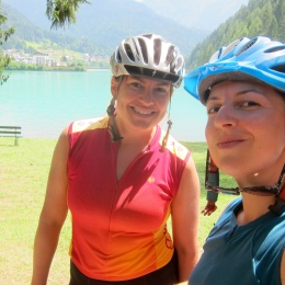 All smiles at the lake in Auronzo.