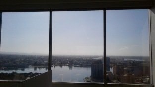 Soaking in the view from Kyle's new Mosaic office...