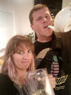 ... and then getting a little weird with office mates after finding the secret champagne stash!