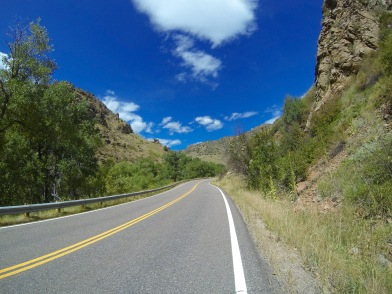 Riding up Deer Creek Canyon in Morrison, Co.