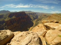 Toroweap/Tuweep overlook -- straight down 3,000 feet to the might Colorado River.