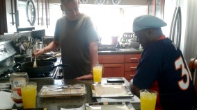 Breakfast of champions with Benjamin and James, some of my favorite uncles in Denver ;)