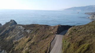Riding the closed road in Big Sur with very little traffic.
