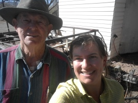 Fred, the mastermind behind fixing my broken rack with bailing wire, screws and electric tape.