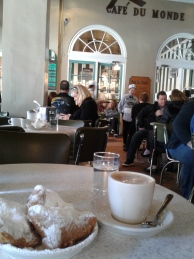And of course food! First, beignets and cafe au lait at Cafe du Monde.