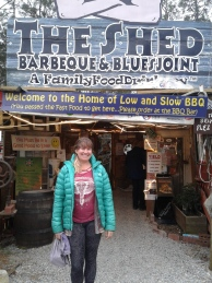 Here I am at the Shed, in Gautier, Alabama.