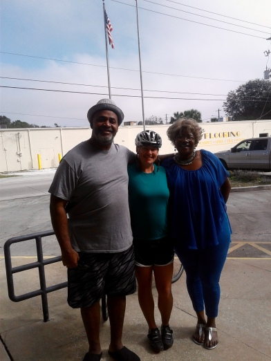 Quality time with my new friends Mildred and John in Palatka, Florida.