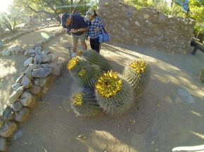 Making friends with Alan and Myrna in Globe, Arizona (here we are visiting Besh Ba Gowah Native American ruins).