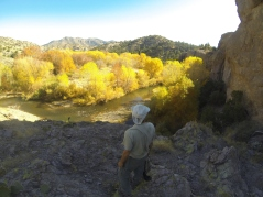 Hiking with Joseph in or near the Gila Wilderness.