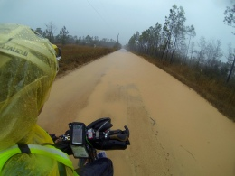And then I had to suck it up and ride inland through A LOT of rain...